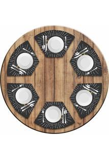 Jogo Americano Love Decor Para Mesa Redonda Wevans Hambúrguer Kit Com 6 Pçs - Kanui