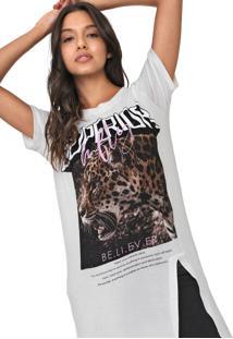 Camiseta My Favorite Thing(S) Alongada Off-White