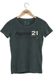Camiseta Forseti Estonada Agenda 21 Verde - Kanui