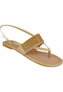 Sandalia Rasteira Ouro Lurex Di Santinni 60227027