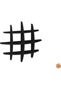 Prateleira Taylor Hashtag Média Mdf Preta 598-0024 - 90X90X14 Cm