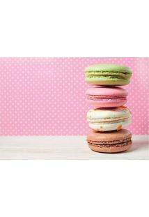 Tapete Macarons- Rosa Claro & Bege Claro- 60X40Cm