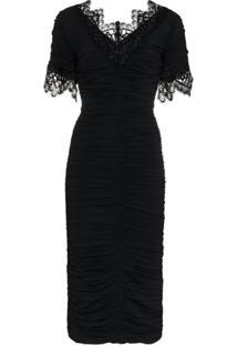 Dolce & Gabbana Vestido 'Georgette' Com Tachas - Preto