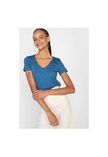 Blusa Enfim Lisa Azul-Marinho