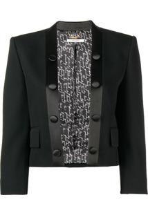Givenchy Jaqueta Tuxedo Cropped - Preto