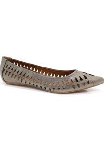 Sapatilha Zariff Shoes Vazados Prata