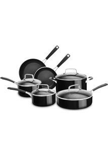Conjunto De Panelas De Alumínio 6 Peças - Onyx Black Ki996Ce