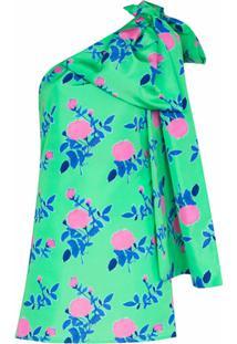 Bernadette Vestido Mini Ombro Único Josselin Floral - Verde