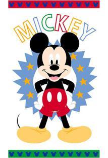 Toalha De Banho Disney Mickeyâ® Happy- Branca & Azul Clarsantista