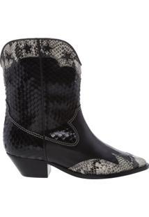 Bota Western Glam Python Black | Schutz