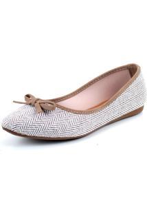 Sapatilha Tag Shoes Lona Etnica Bege