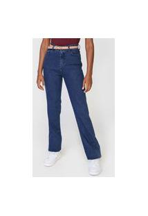 Calça Jeans Hering Reta Lisa Azul