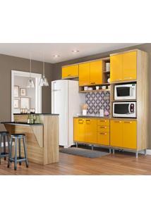Cozinha Compacta Sem Tampo 5 Peças 5843 Sicília - Multimóveis - Argila / Amarelo