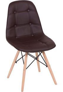 Cadeira Eames Botonãª- Cafã© & Madeira- 83X44X39Cmor Design