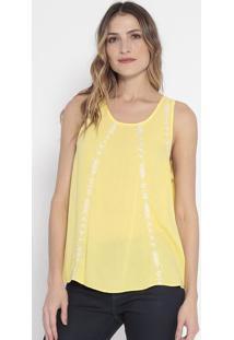 Blusa Com Bordados- Amarela & Off White- Guessguess
