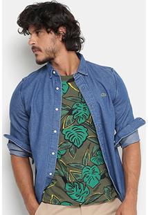 Camisa Jeans Lacoste Live Fit Masculina - Masculino