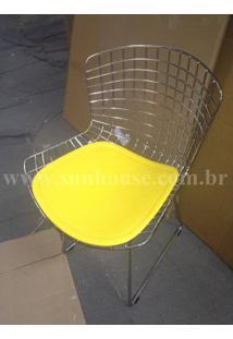 Cadeira Bertoia Assento Courissimo Amarelo 16199 - Sun House