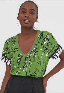 Camiseta Forum Animal Print Verde - Kanui