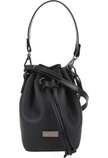 Bolsa Shoestock Bucket Mini Feminina - Feminino-Preto
