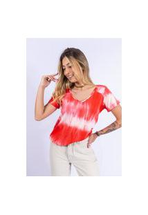 Camiseta Tie Dye Up Side Wear Vermelha