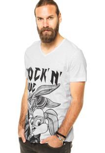 Camiseta Fashion Comics Rockn Love Branca