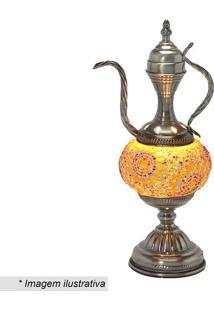 Abajur- Ouro Velho & Amarelo- 37X16X14Cm- Bivoltmabruk