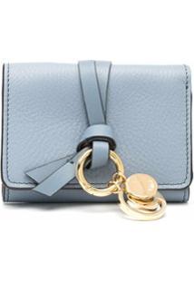 Chloé Carteira Quadrada Com Detalhe De Nó - Azul