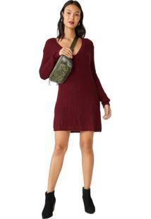 Vestido Suéter Oversized Decote