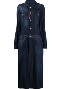 Dsquared2 Vestido Jeans Longo - Azul