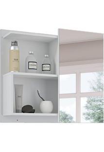 Armário De Banheiro Lis Com Espelho 1 Pt Branco 60 Cm