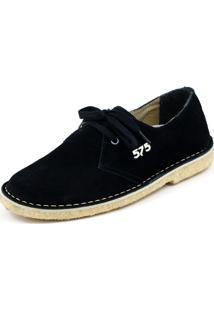 Sapato 575 Camurça Cadarço Preto