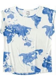 Blusa Azul Mullet Viscose Sustentável