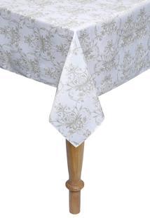 Toalha De Mesa Quadrada Kacyumara Limpa Fácil 160X160Cm Elva Branco