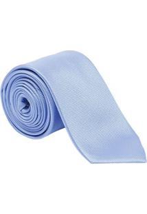 Gravata Em Seda Maquinetada - Azul Claro - 7X150Cmdudalina