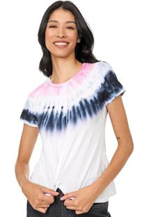 Camiseta Aeropostale Estampada Branca/Rosa