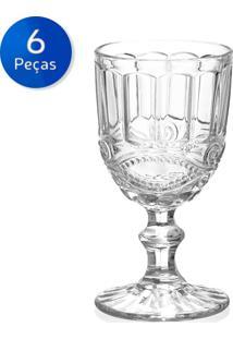 Conjunto 6 Taças De Vidro Para Vinho 245Ml Brandon-Bon Gourmet - Transparente
