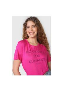 Camiseta Colcci No Chance Rosa