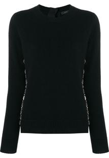 Marc Jacobs Embellished Fitted Sweater - Preto