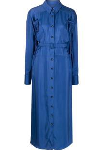 Jacquemus Vestido La Robe Valmy - Azul