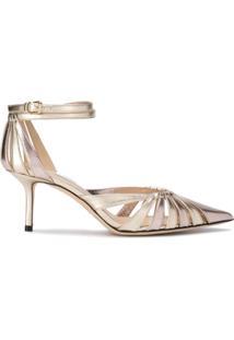 ee83bbd3c3 Sapato Bico Fino Dourado feminino