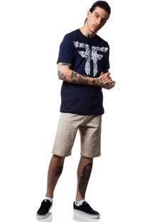 Camiseta Fallen Bones - Masculino-Marinho