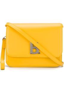 Balenciaga Bolsa Com Placa De Logo - Amarelo