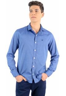 Camisa Norfolk Com Padronagem E Bordado - Masculino