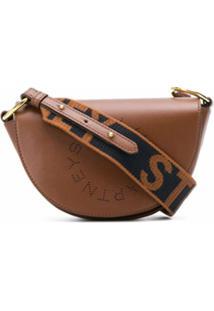 Stella Mccartney Bolsa Transversal Com Logo - Marrom