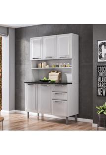 Cozinha Compacta Regina Ll 6 Pt 2 Gv Branca 120 Cm