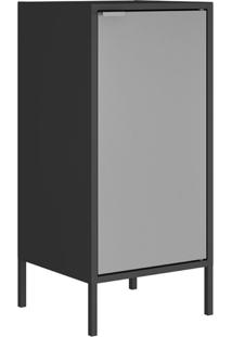 Gabinete Alto Multiuso Smart 01 Porta Gb-35 Itatiaia Cor:Preto/Cinza