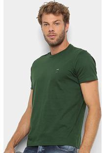 Camiseta T-Shirt Ellus Manga Curta Masculina - Masculino-Musgo