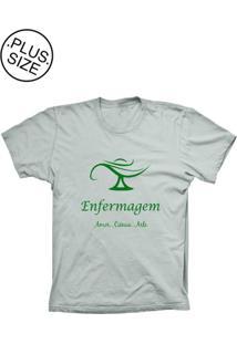 Camiseta Lu Geek Plus Size Enfermagem Prata