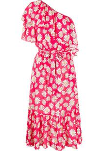 Boutique Moschino Vestido Assimétrico Com Estampa Floral - Rosa