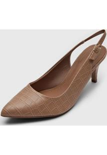 Scarpin Piccadilly Slingback Bege